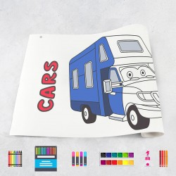 Zeichungen auf Rolle Autos