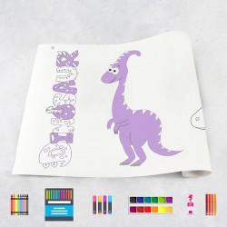 Zeichungen auf Rolle Dinosaurier