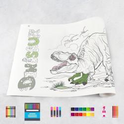 Zeichungen auf Rolle Dinosaurier 1