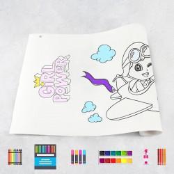 Zeichungen auf Rolle Mädchen 1