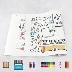 Zeichungen auf Rolle Musik