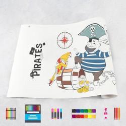 Zeichungen auf Rolle Piraten