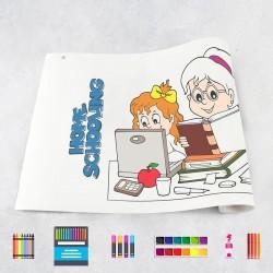 Zeichungen auf Rolle Schule