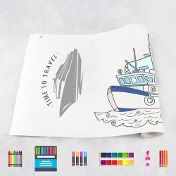 Zeichungen auf Rolle Boote