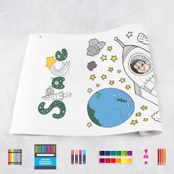 Zeichungen auf Rolle Universum