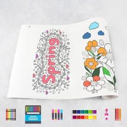 Zeichungen auf Rolle Frühling