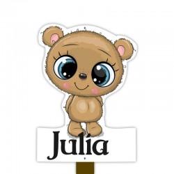Geburtsschild Gartenmädchen  Teddybär