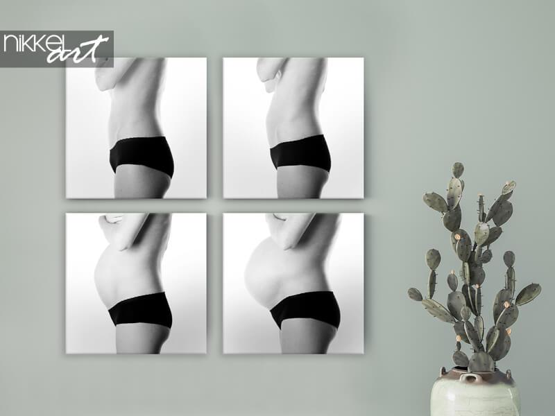 Ein Foto auf Leinwand als Erinnerung an Ihre Schwangerschaft