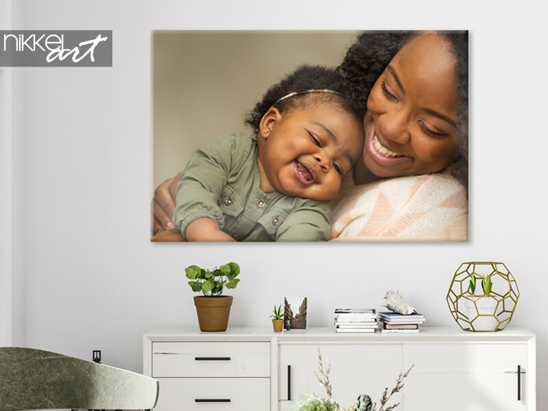 Babyfotos auf leinwand