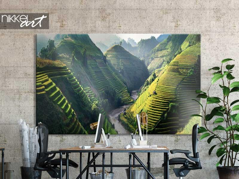 Foto auf Leinwand Reisfelder auf Terrassen im Nordwesten Vietnams