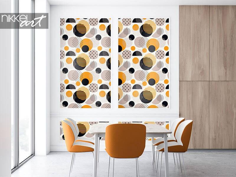 Polka-Dot-Tapete maßgeschneidert für Ihr Interieur