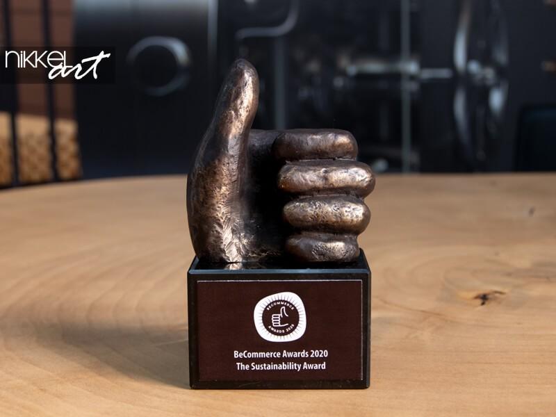 Auf unserem Trophäenschrank: BeCommerce Sustainability Award 2020