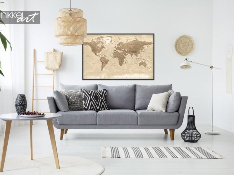 Plakate mit Weltkarte, für den wahren Weltreisenden!