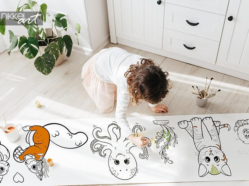 NEU: Zeichnungen auf Rollen | Endlose unterhaltung für die Kinder