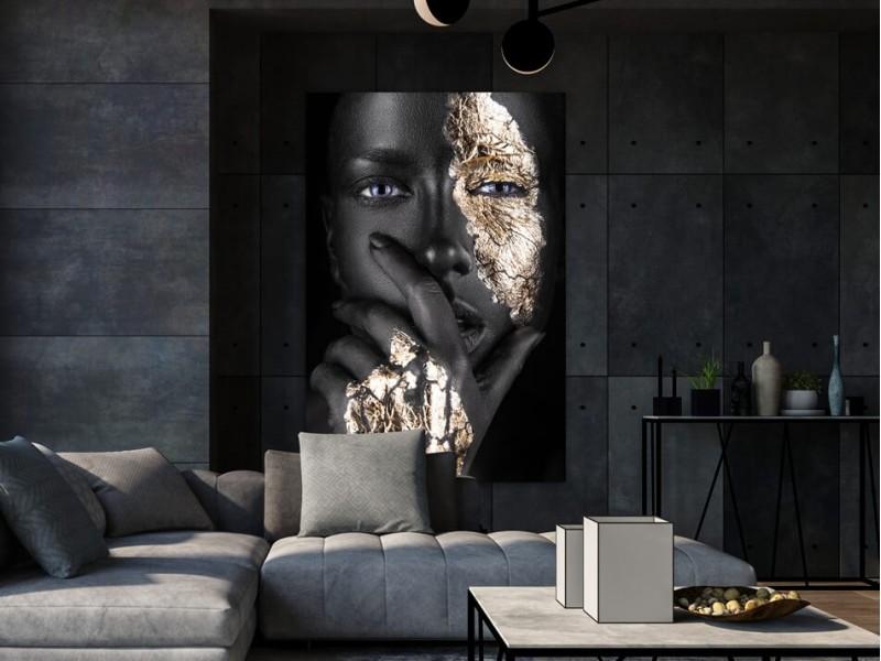4 x kunstsinnige Fotos von Frauen auf Acrylglas