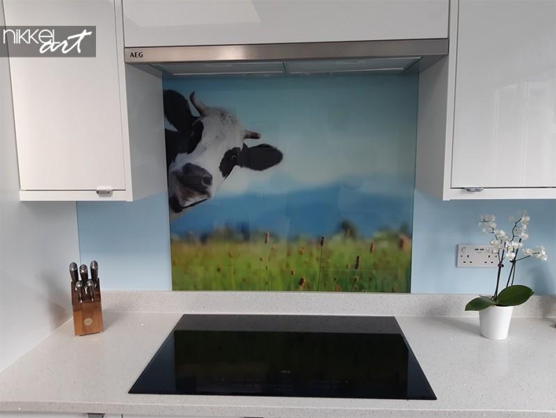 Gedruckte Küchenrückwand Kuh