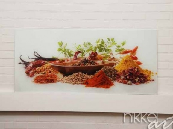 Küche Foto Rückwand Gewürze