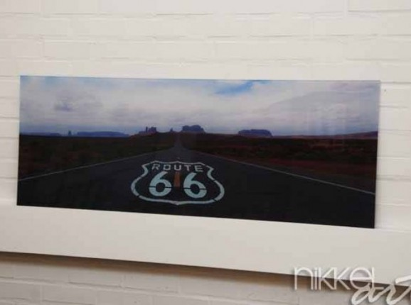 Küche Foto Rückwand Route 66