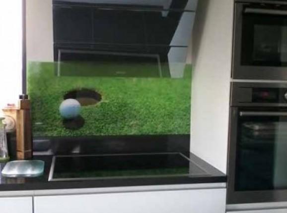 Küchenrückwand Glas Golf
