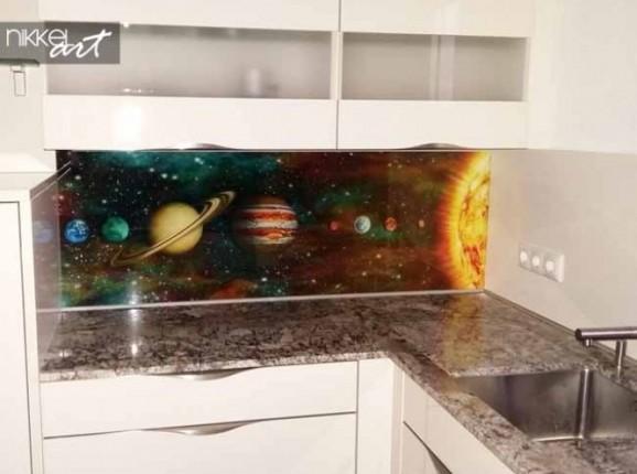 Küchenrückwand Glas Nasa