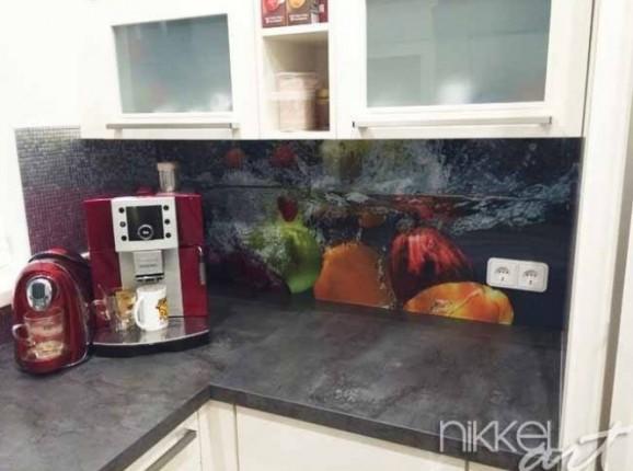 Küchenrückwand foto glas Im Wasser