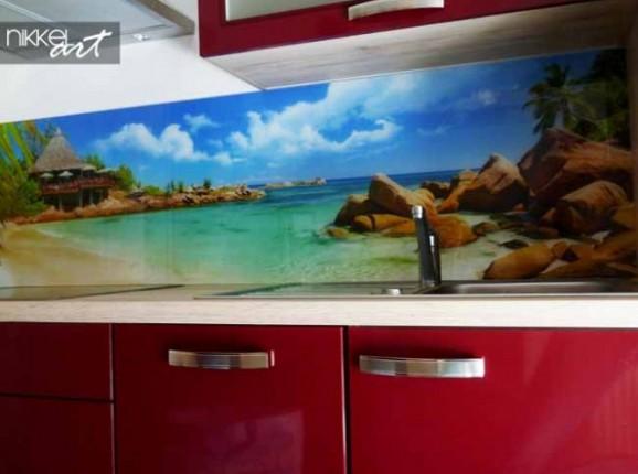 Küchenrückwand foto glas Strand