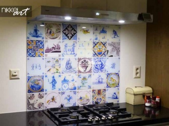 Küchenrückwand foto glas