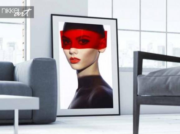 Poster Elegante futuristische Dame