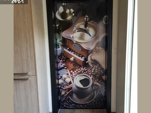 Kaffeemühle Türaufkleber