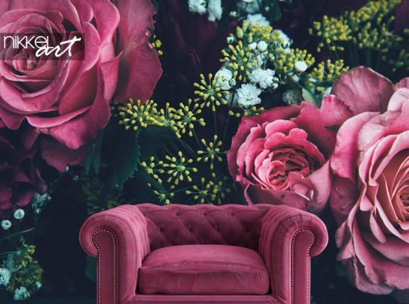 Rosen auf Fototapete