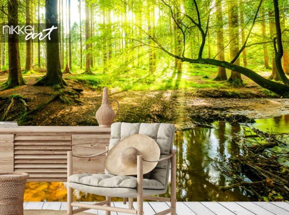 Wald auf Fototapete