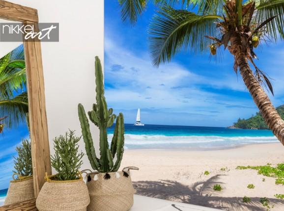 Paradiesischer Strand auf Fototapete