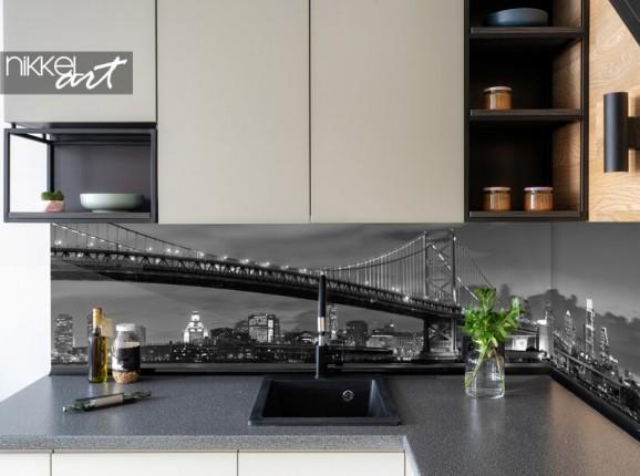 Küchenrückwand mit New Yorker Skyline