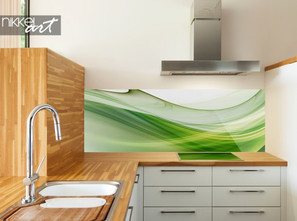 Abstrakte Küchenrückwand