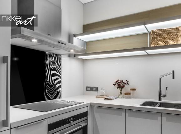 Glas Küchenrückwand Zebra