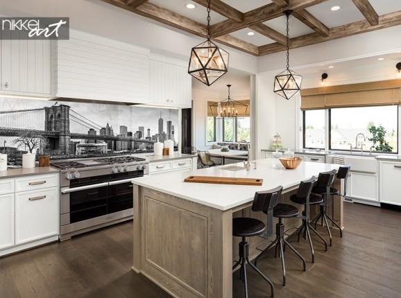 Küchenrückwand aus Glas mit Foto New York