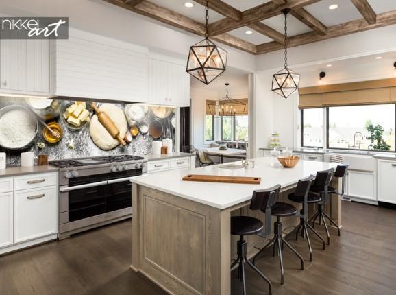 Küchenrückwand mit Foto Bäckerei