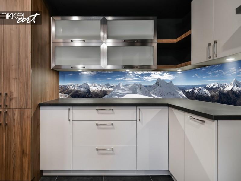 Küchenrückwand mit Panorama Berge