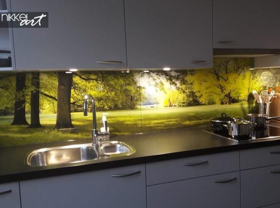 Kundenfoto Küchenrückwand Wald