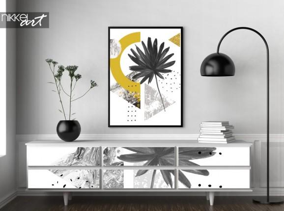 Möbelaufkleber und Poster mit Foto des Grafikdrucks