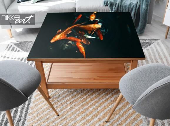Möbelaufkleber mit Koi-Fisch