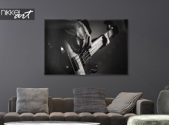 Gitarre auf Leinwand