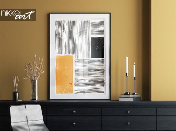 Minimalistisches Poster im Rahmen