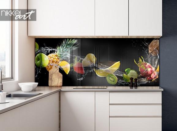 Küchenrückwand aus Glas mit Obst