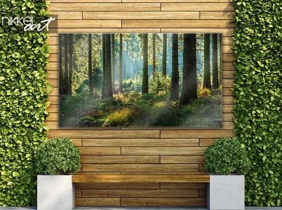 Gartenposter mit Wald