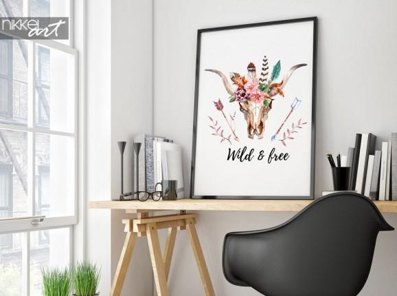 Boho Chic poster - Wild & free