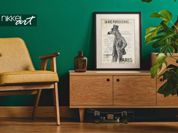 Poster in Rahmen mit Zebramann
