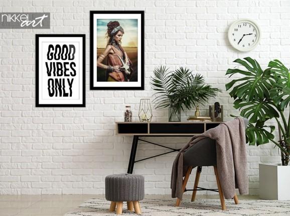Arbeitszimmer mit Poster Gypsy
