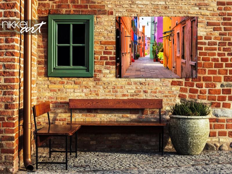 Gasse Italiens auf Gartenposter