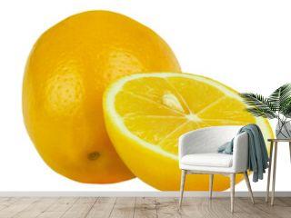 Lemon isolate on white background.
